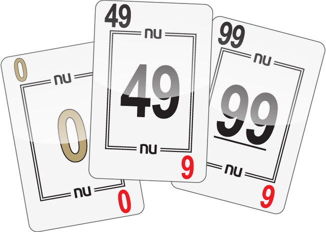 NU PLAYING CARDS®: 0, 49, 99