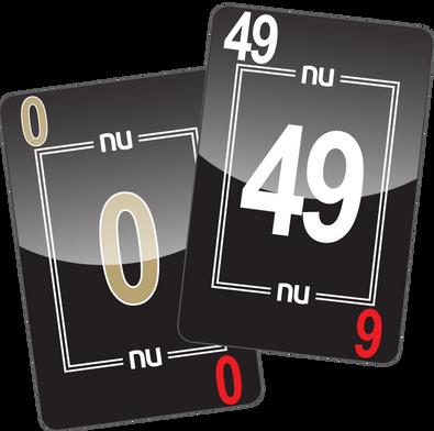 NU PLAYING CARDS®_ 0-49 - BLACK