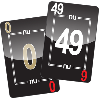 NU PLAYING CARDS®: 0-49 - BLACK