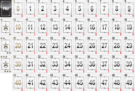 NU PLAYING CARDS®: 0-49 SPREAD plus 3 Luckys