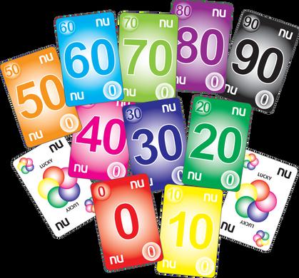 NU PLAYING CARDS®: 0-99 - RAINBOW