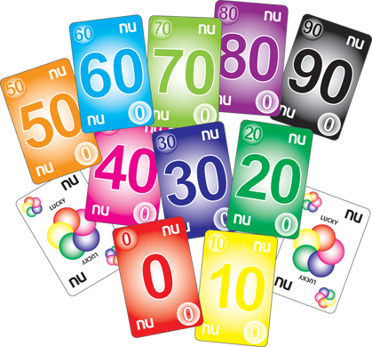 NU PLAYING CARDS®: 0-99 - RAINBOW