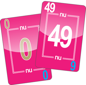 NU PLAYING CARDS®: 0-49 - PINK