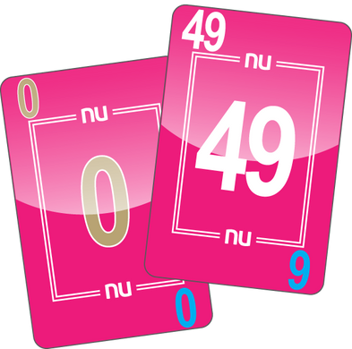 NU PLAYING CARDS®: 0-49 - PINK