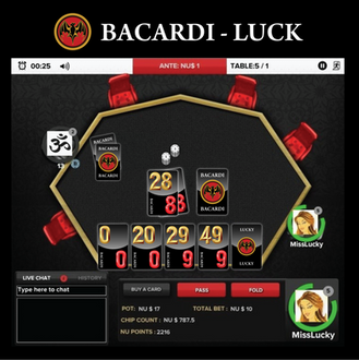 NU RE-BRAND: BACARDI LUCK - ONLINE GAME