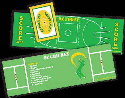 OZ FOOTY & OZ CRICKET: FOLD-OUT PLAY FIELDS