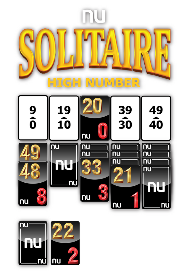 NU SOLITAIRE HIGH NUMBER - GAME LAYOUT