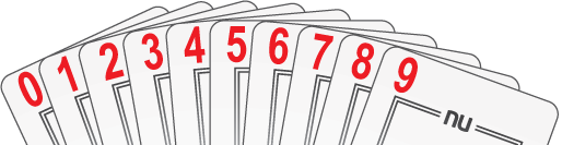 NU PLAYING CARDS®: LOW NUMBERS 0-9
