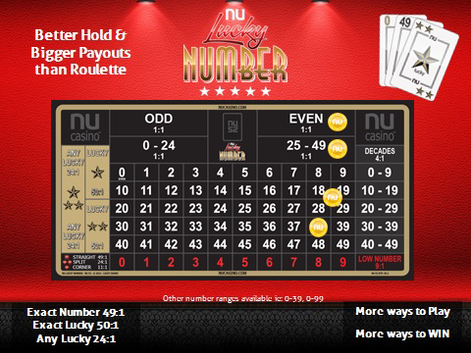 NU LUCKY NUMBER 0-49 (L2)
