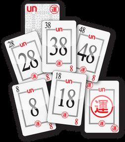 UN CARDS: 8-18-28-38-48, LUCKY
