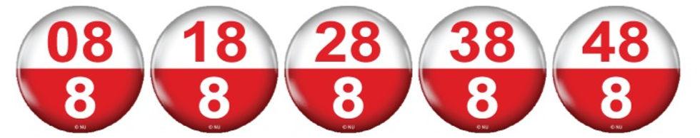NU BALLS 8,18,28,38,48