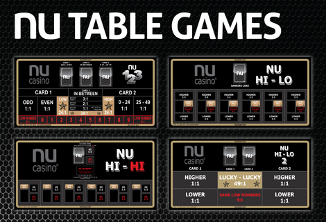 NU TABLE GAMES