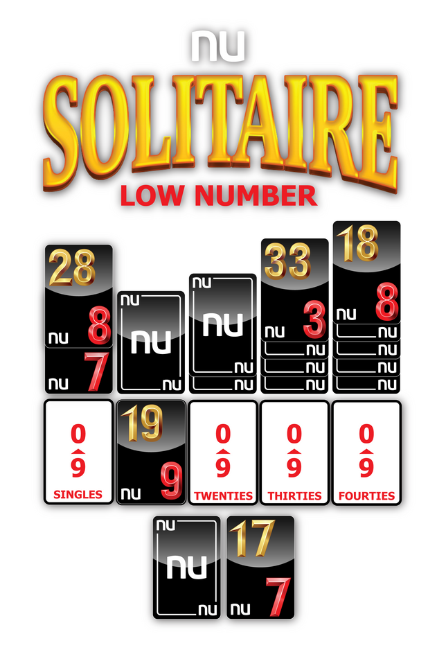 NU SOLITAIRE LOW NUMBER GAME LAYOUT
