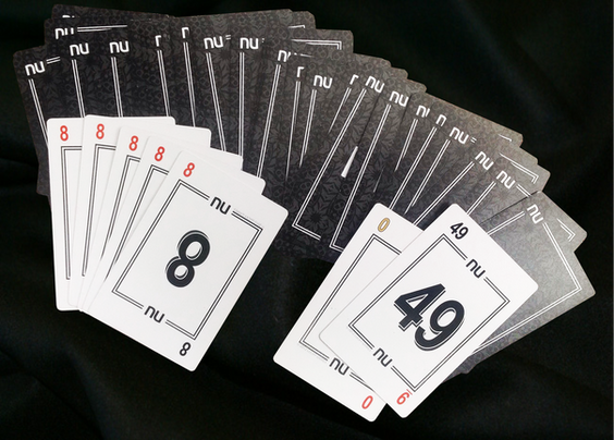 NU PLAYING CARDS®: 5x8's, 0-49, Backs