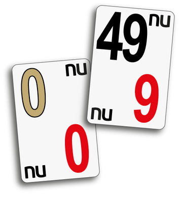 NU CASINO CARDS EASY VIEW: 0-49