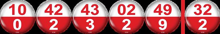 POLISH LOTTO BALLS - 10,42,43,02,49,32.p