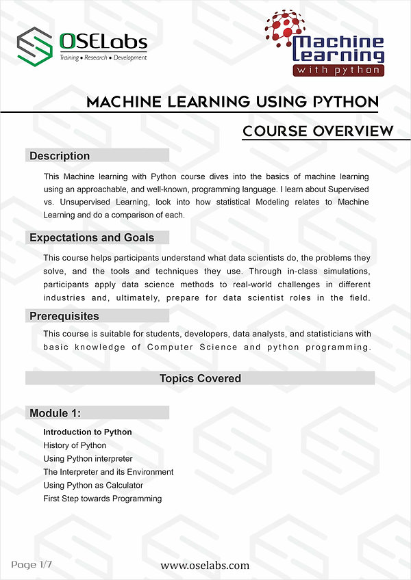 Machine Learning with python - students