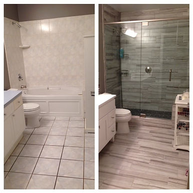 """""""It's what sold the condo"""" Bathroom"""
