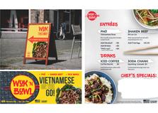 Wok n Bowl food truck signage