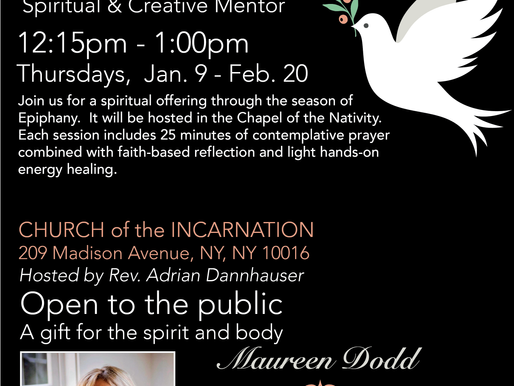 Join us at CHURCH of the INCARNATION for Prayer and Healing Meditation