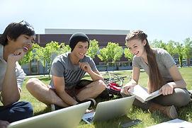 Studerer på gresset