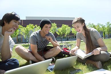 Estudiando en la hierba