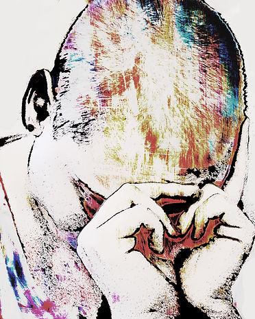 Abstrac photography, pain, sad