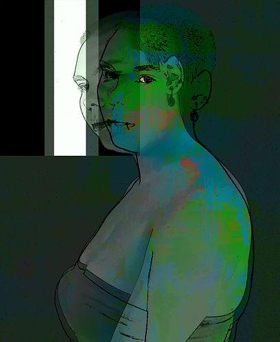 Digital manipulation, disability, laspe, green, grey