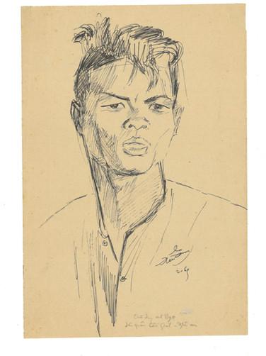 Portrait of Mr.Ngọ, a Civil Guard at Cầu Giát, Nghệ An