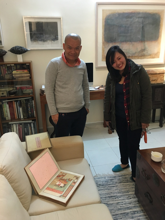Maia Do and Hà Mạnh Thắng at the artist's home, Hanoi