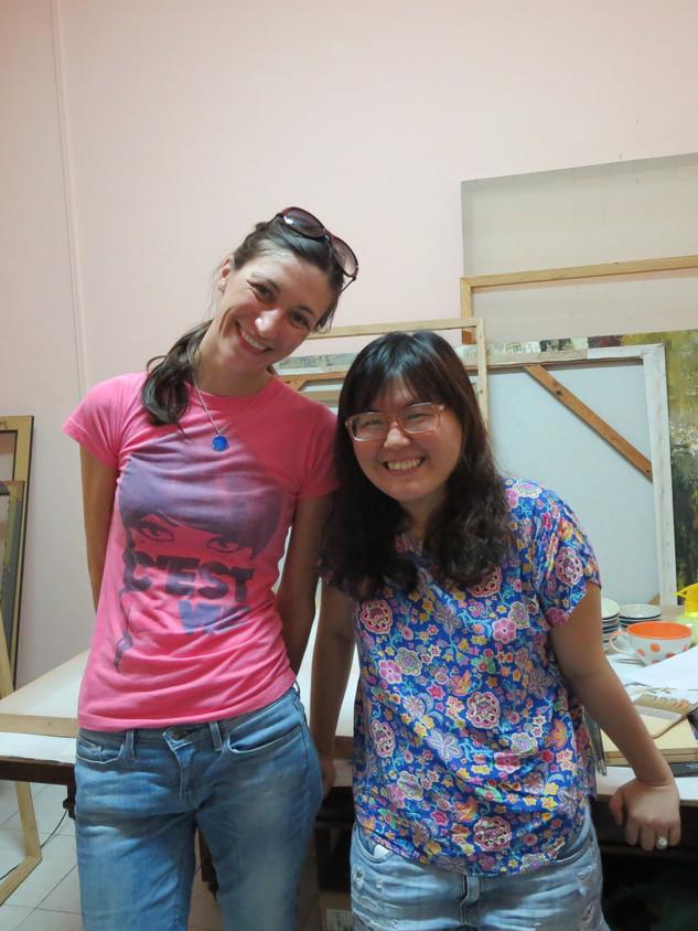 Visit to artist Lê Hoàng Bích Phượng, HCMC