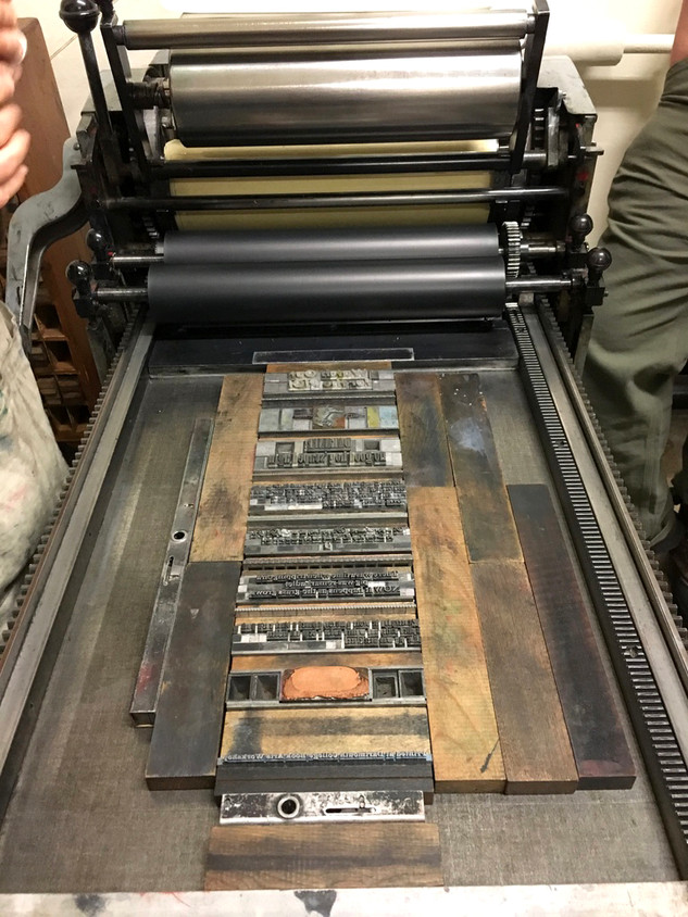 Experimenting with a 19th century letter press