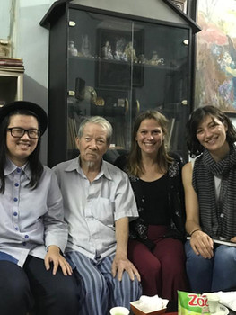Visit to artist Phạm Thanh Tâm's house