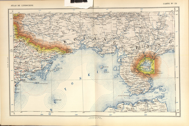 1920 High Resolution of Indochina Map -
