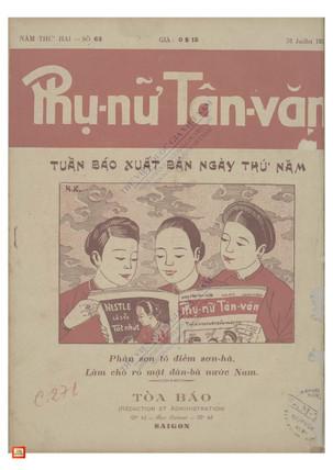 1930 Phụ Nữ Tân Văn (Women Newspaper) -