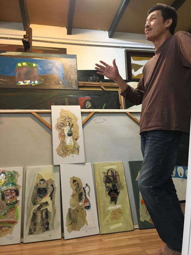 Visit to artist Hà Trí Hiếu's studio, Hanoi