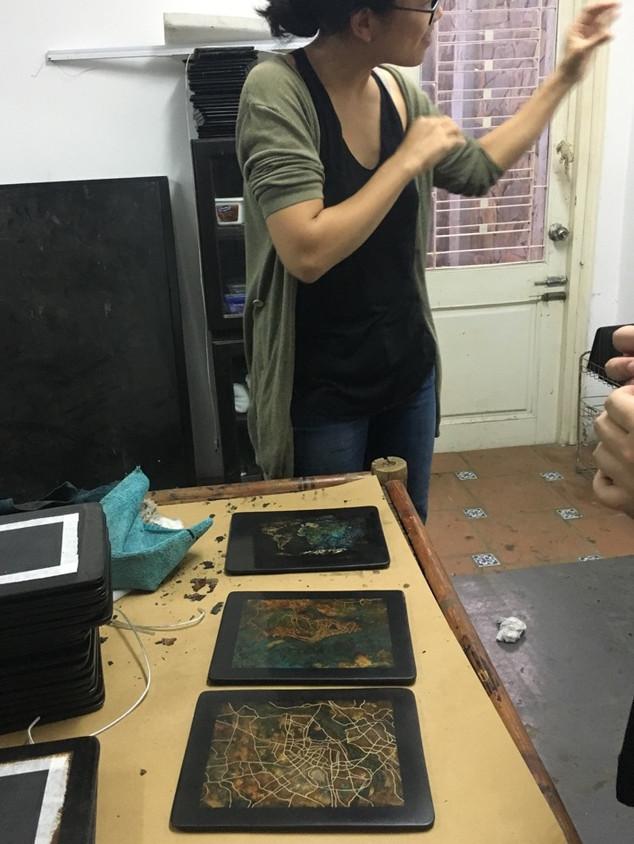 Visit to Phi Phi Oanh's studio, Hanoi