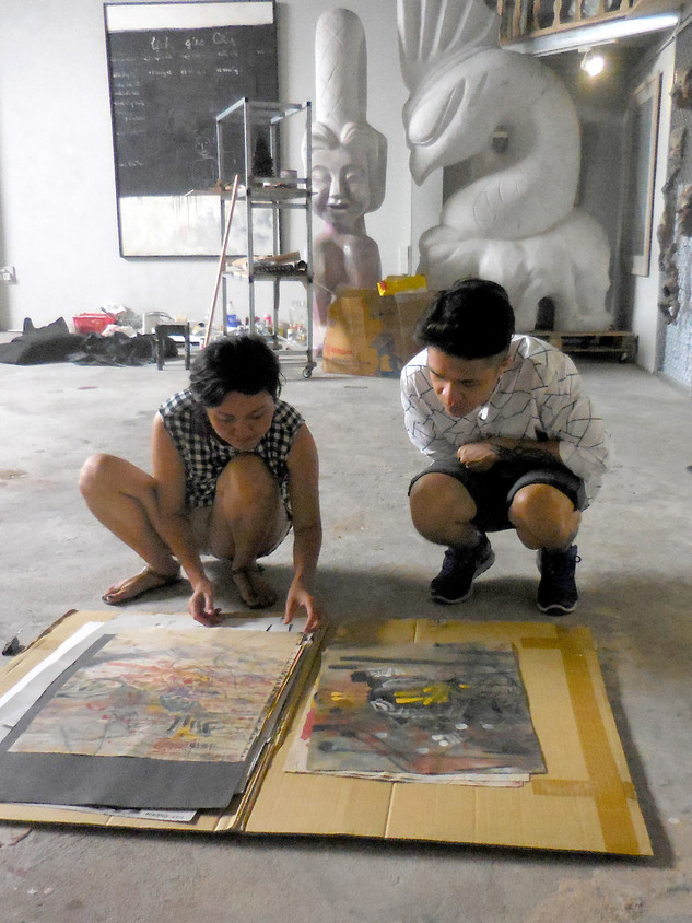 Visit to Cuci Art Studio, Hanoi