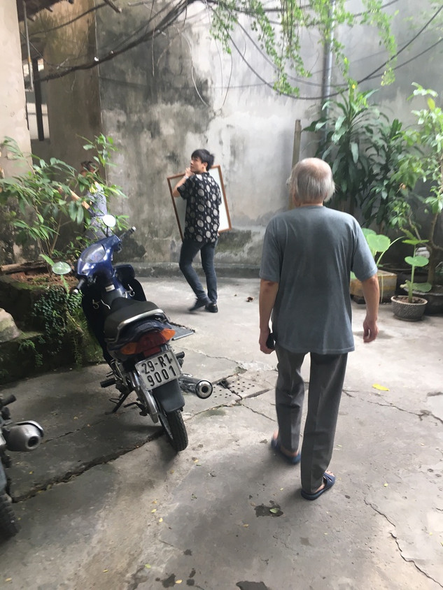 Visit with artist Trần Huy Oánh, Hanoi
