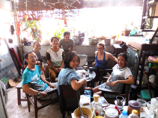 Sao La art collective on their rooftop in HCMC