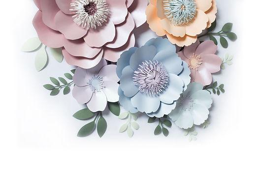 Сет бумажных цветов