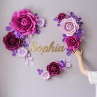 Сет цветов в форме сердца