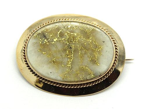 Scarce Large NATURAL GOLD QUARTZ SPECIMEN Brooch