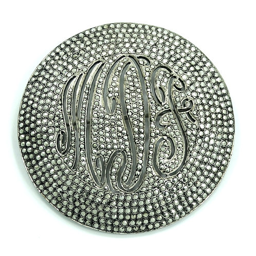 "Antique ART DECO Marcasite Encrusted ""MDF"" Sterling Silver Brooch Pin"