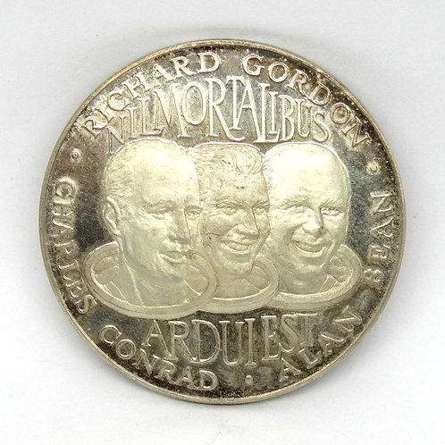 APOLLO XII 2nd Moon Landing 925 Silver Medal 40gr.