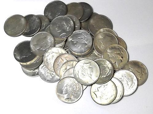 VF/XF 1922-1926 PEACE Silver Dollar Random Year