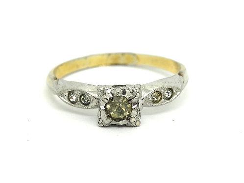 Simply Stunning Lady's C&C Cz Silver G.F. Ring