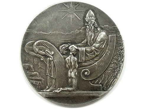 Scarce ICELAND 1930 10 KRONUR Medallic 1000 Years Althing Silver Coin Medal