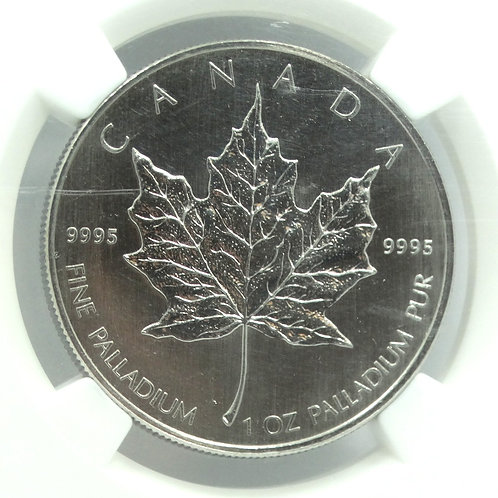 NGC MS67 2007 PALLADIUM Canada Maple Leaf 1 OZ Coin Pur PD$50 15,000 Mintage
