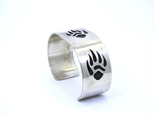 M. SLIM Native American NAVAJO BEAR CLAW Sterling Silver Cuff Bangle Bracelet